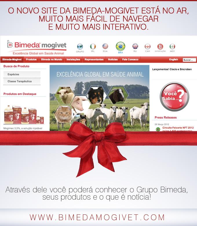 Bimeda-mogivet estréia novo site.