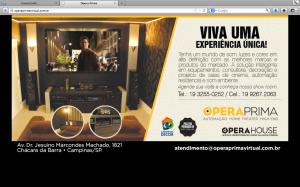 Arte da nova linha de comunicação aplicada nos sites das empresas e que também está no guia do Campinas Decor 2013.