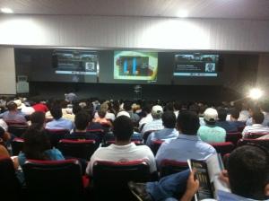 Público acompanhando as palestras do Circuito Feicorte NFT em Palmas - TO