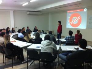 """Diretor do Grupo Produção Coletiva, Eugenio Do Val, ministra aula sobre """"conduta de valor"""" para a 3ª Turma do Pro-Fissa"""